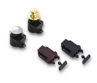 Flush Surfaces With Push-Knob Latches And Push-To-Open Catches