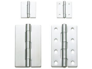 Mirror finish stainless steel butt hinges still get specified for a number of reasons.