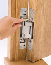 Hinge comes with and adjustment tool